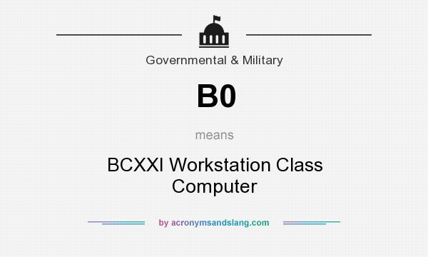 What does B0 mean? It stands for BCXXI Workstation Class Computer