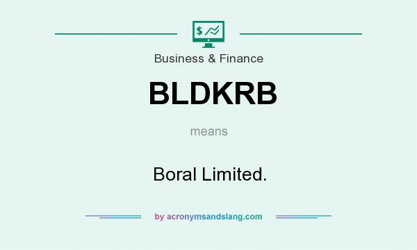 What does BLDKRB mean? It stands for Boral Limited.