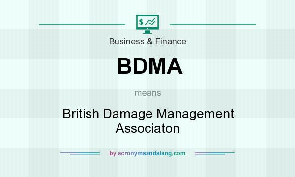 What does BDMA mean? It stands for British Damage Management Associaton