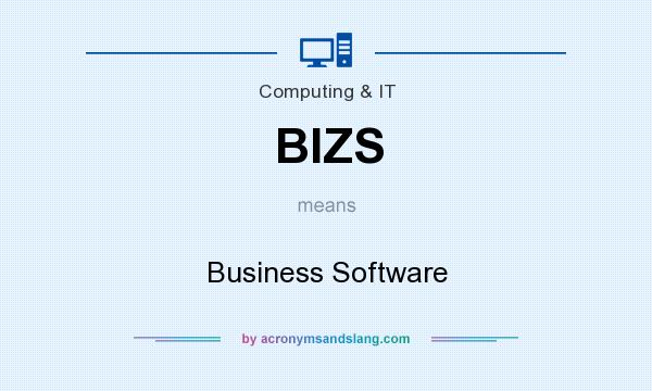 What does BIZS mean? It stands for Business Software
