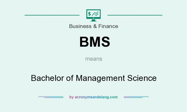 What does BMS mean? It stands for Bachelor of Management Science