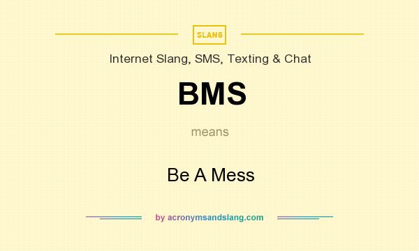 What does BMS mean? It stands for Be A Mess