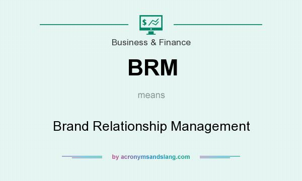 What does BRM mean? It stands for Brand Relationship Management