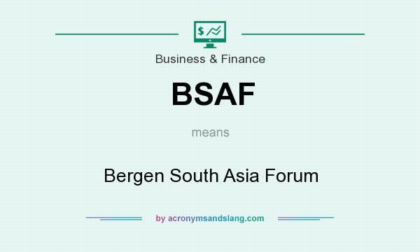 What does BSAF mean? It stands for Bergen South Asia Forum
