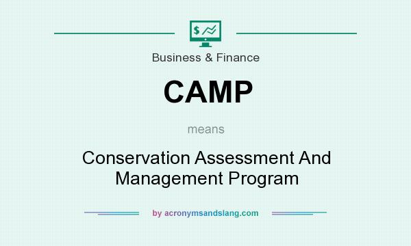 What does CAMP mean? It stands for Conservation Assessment And Management Program