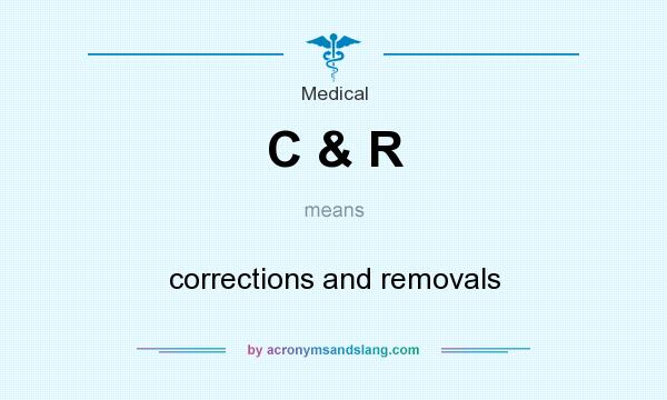 What does C & R mean? It stands for corrections and removals