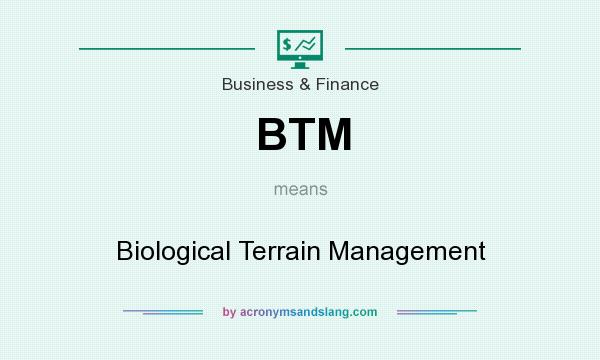 What does BTM mean? It stands for Biological Terrain Management