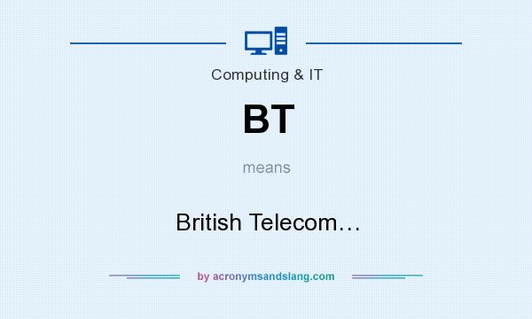 What does BT mean? It stands for British Telecom…