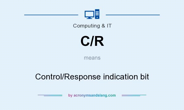 What does C/R mean? It stands for Control/Response indication bit