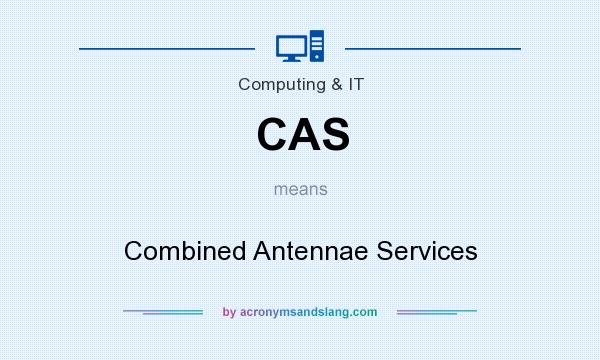 What does CAS mean? It stands for Combined Antennae Services