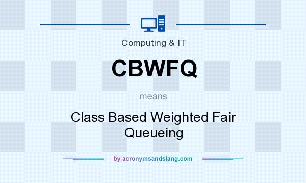 What does CBWFQ mean? It stands for Class Based Weighted Fair Queueing