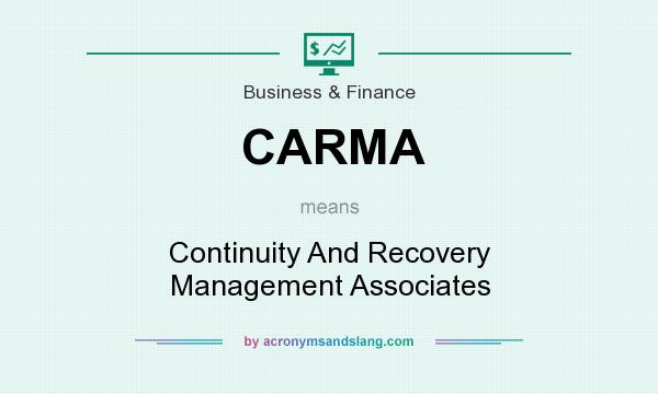 What does CARMA mean? It stands for Continuity And Recovery Management Associates