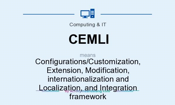 What does CEMLI mean? It stands for Configurations/Customization, Extension, Modification, internationalization and Localization, and Integration framework