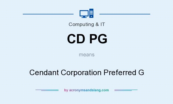 What does CD PG mean? It stands for Cendant Corporation Preferred G
