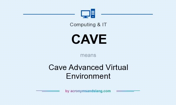 What does CAVE mean? It stands for Cave Advanced Virtual Environment