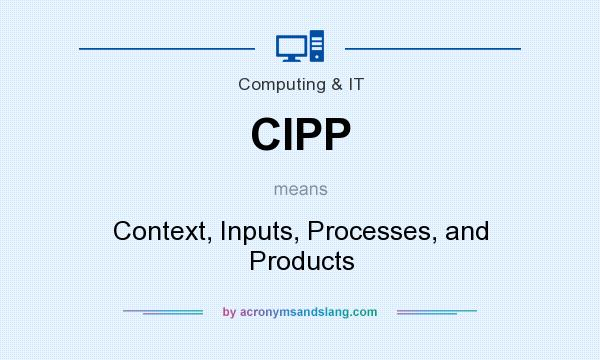 What does CIPP mean? It stands for Context, Inputs, Processes, and Products