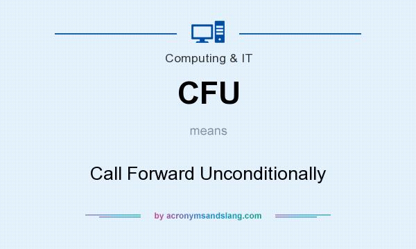 What does CFU mean? It stands for Call Forward Unconditionally