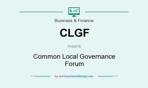 What does CLGF mean? It stands for Common Local Governance Forum