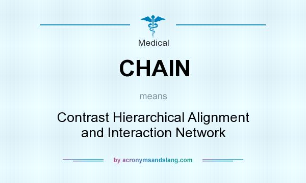 What does CHAIN mean? It stands for Contrast Hierarchical Alignment and Interaction Network