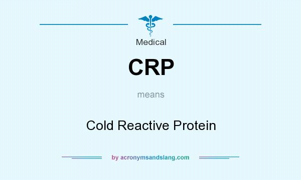 What does CRP mean? It stands for Cold Reactive Protein