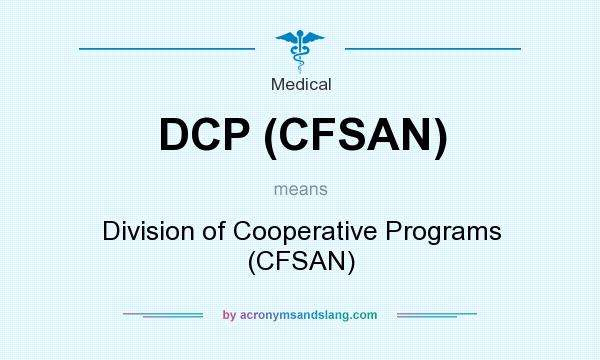 What does DCP (CFSAN) mean? It stands for Division of Cooperative Programs (CFSAN)