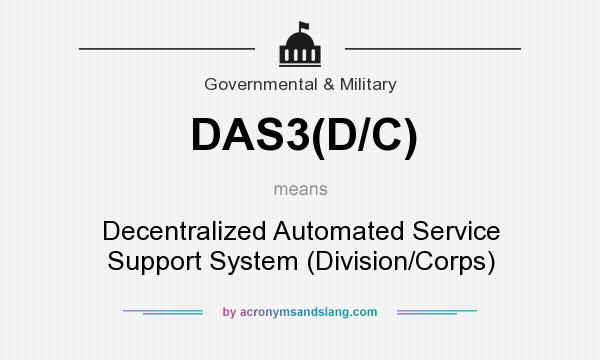 What does DAS3(D/C) mean? It stands for Decentralized Automated Service Support System (Division/Corps)