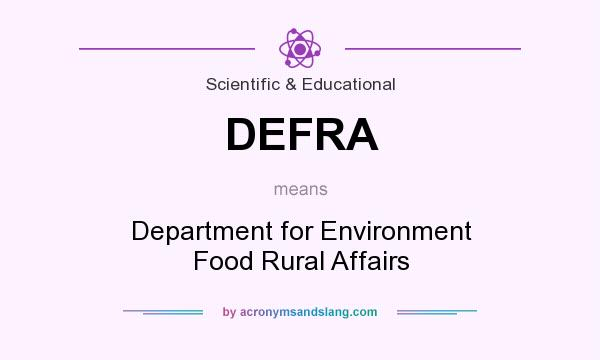What does DEFRA mean? It stands for Department for Environment Food Rural Affairs