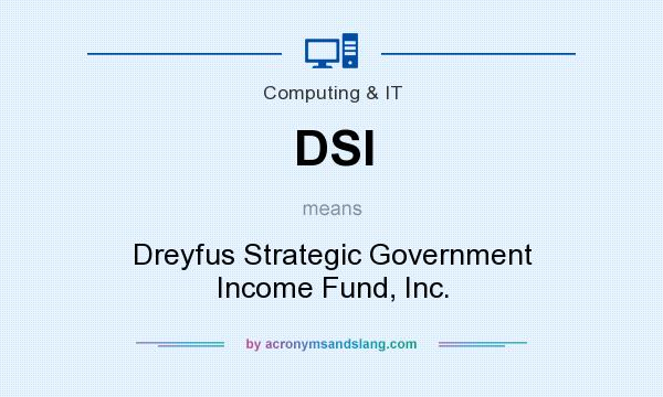 What does DSI mean? It stands for Dreyfus Strategic Government Income Fund, Inc.