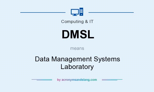 What does DMSL mean? It stands for Data Management Systems Laboratory