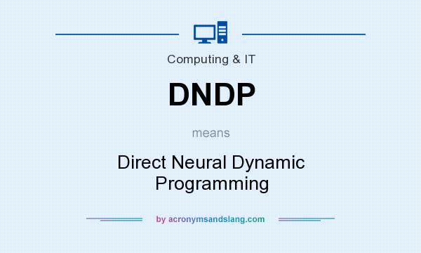 What does DNDP mean? It stands for Direct Neural Dynamic Programming