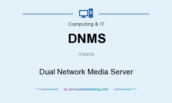 What does DNMS mean? It stands for Dual Network Media Server