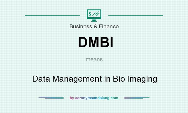 What does DMBI mean? It stands for Data Management in Bio Imaging
