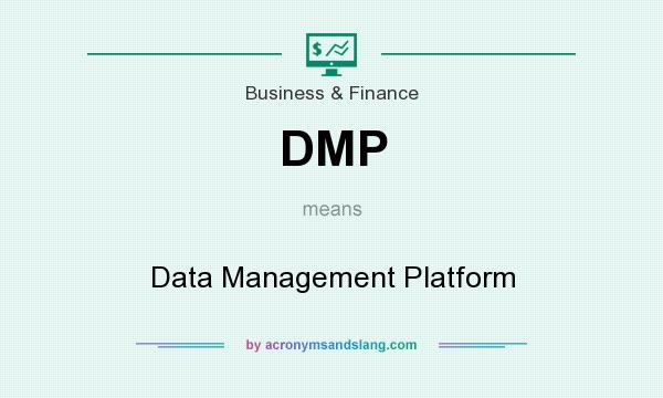What does DMP mean? It stands for Data Management Platform