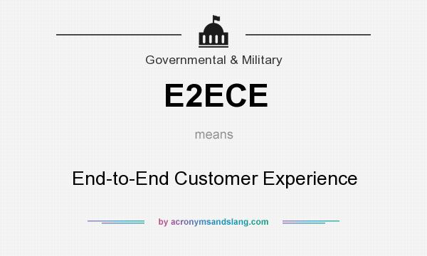 What does E2ECE mean? It stands for End-to-End Customer Experience