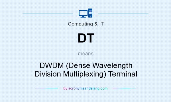 What does DT mean? It stands for DWDM (Dense Wavelength Division Multiplexing) Terminal