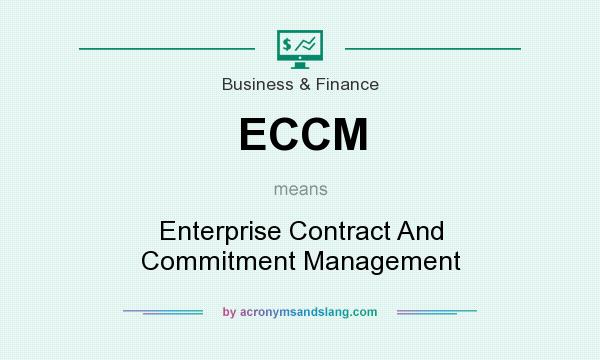 What does ECCM mean? It stands for Enterprise Contract And Commitment Management