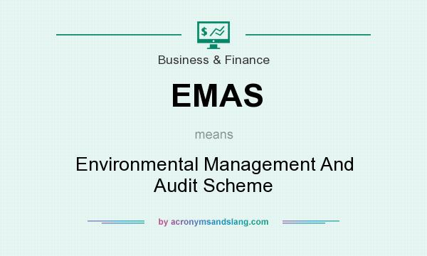 What does EMAS mean? It stands for Environmental Management And Audit Scheme