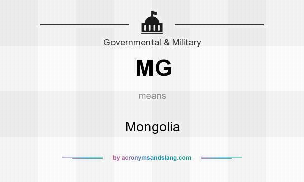 What does MG mean? It stands for Mongolia