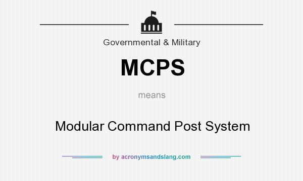 Mcps modular command post system in government for Define prefabricated