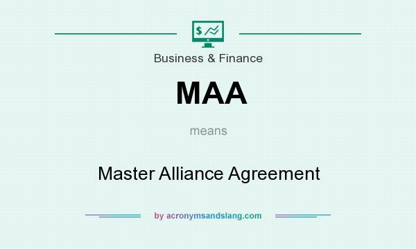 Maa Master Alliance Agreement In Business Finance By
