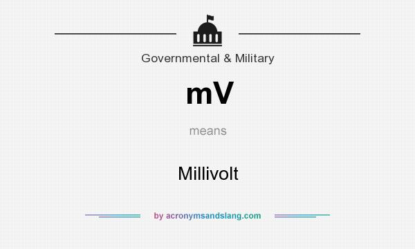 What does mV mean? It stands for Millivolt