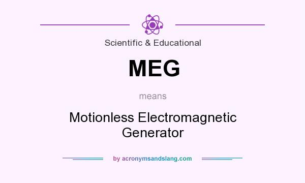 What does MEG mean? It stands for Motionless Electromagnetic Generator