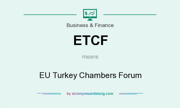 What does ETCF mean? It stands for EU Turkey Chambers Forum