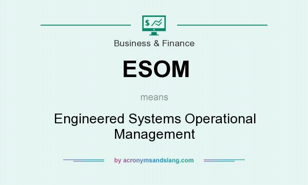 What does ESOM mean? It stands for Engineered Systems Operational Management