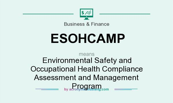 What does ESOHCAMP mean? It stands for Environmental Safety and Occupational Health Compliance Assessment and Management Program