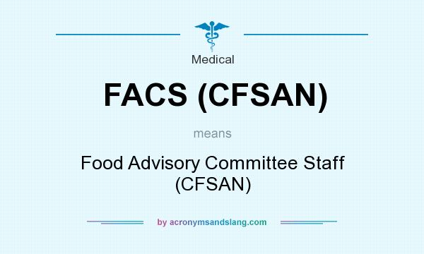 What does FACS (CFSAN) mean? It stands for Food Advisory Committee Staff (CFSAN)