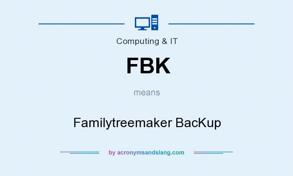 What does FBK mean? It stands for Familytreemaker BacKup