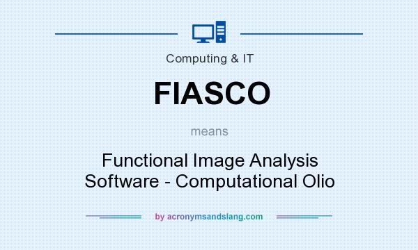 What does FIASCO mean? It stands for Functional Image Analysis Software - Computational Olio