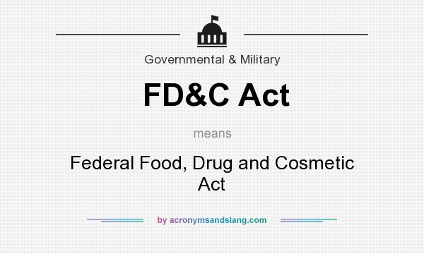 Summary of the Federal Food, Drug, and Cosmetic Act