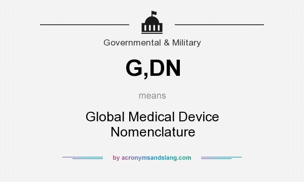 What does G,DN mean? It stands for Global Medical Device Nomenclature
